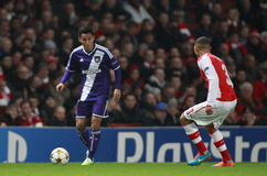 UEFA Champions League Arsenal v Anderlecht Royalty Free Stock Photo