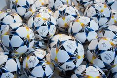UEFA Champions league ball 2018. Background royalty free stock photos