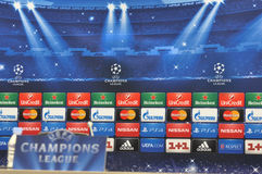 UEFA Champions League banner Stock Photo
