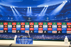 UEFA Champions League conference room Royalty Free Stock Photography