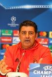 UEFA Champions League Dynamo Kiev v Benfica: press-conference Stock Image