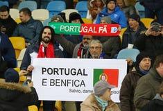 UEFA Champions League: FC Dynamo Kyiv v Benfica Royalty Free Stock Photo