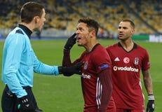 UEFA champions league FC gemowy dynamo Kyiv v Besiktas fotografia royalty free