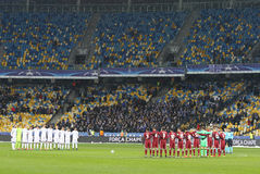 UEFA champions league FC gemowy dynamo Kyiv v Besiktas fotografia stock