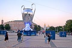 UEFA Champions League Final 2018 CUP, sunset, Kiev, Ukraine, Royalty Free Stock Photos