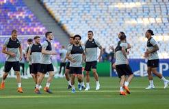 UEFA Champions League Final 2018: Liverpool training, Kiev, Ukra Royalty Free Stock Photos
