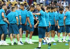 UEFA Champions League Final 2018: Real Madrid training, Kiev, Uk Stock Photography
