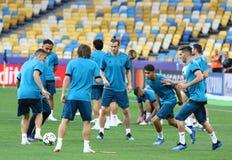 UEFA Champions League Final 2018: Real Madrid training, Kiev, Uk Royalty Free Stock Photo