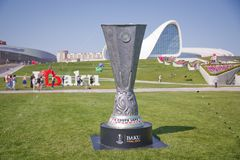 UEFA Champions League Fondos blancos Baku Final 2019 de la Copa de la UEFA UEFA del cupé Europa League 2019 fotos de archivo