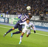 UEFA Champions League game Dynamo Kyiv vs PSG Stock Images