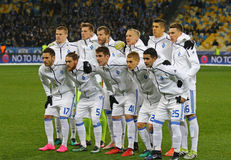 UEFA Champions League game FC Dynamo Kyiv v Besiktas Royalty Free Stock Photo