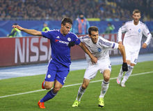 UEFA Champions League game FC Dynamo Kyiv vs Chelsea Stock Photos