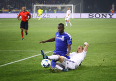 UEFA Champions League game FC Dynamo Kyiv vs Chelsea Royalty Free Stock Photos