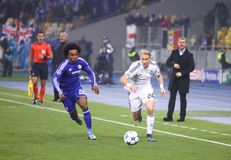UEFA Champions League game FC Dynamo Kyiv vs Chelsea Royalty Free Stock Photography