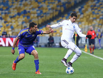 UEFA Champions League game FC Dynamo Kyiv vs Maccabi Tel-Aviv Stock Image