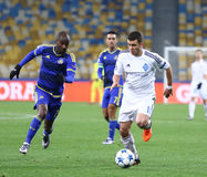 UEFA Champions League game FC Dynamo Kyiv vs Maccabi Tel-Aviv Stock Photos