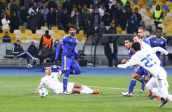 UEFA Champions League game FC Dynamo Kyiv vs Maccabi Tel-Aviv Royalty Free Stock Photo