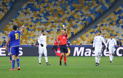 UEFA Champions League game FC Dynamo Kyiv vs Maccabi Tel-Aviv Royalty Free Stock Photos