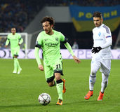 UEFA Champions League game FC Dynamo Kyiv vs Manchester City in Stock Photography