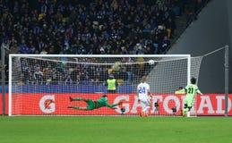 UEFA Champions League game FC Dynamo Kyiv vs Manchester City Royalty Free Stock Photos