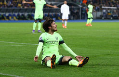 UEFA Champions League game FC Dynamo Kyiv vs Manchester City in Royalty Free Stock Photo