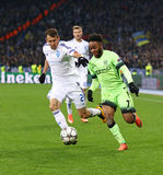 UEFA Champions League game FC Dynamo Kyiv vs Manchester City Stock Photos
