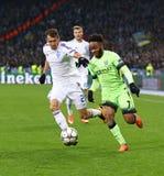 UEFA Champions League game FC Dynamo Kyiv vs Manchester City Stock Photos