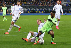 UEFA Champions League game FC Dynamo Kyiv vs Manchester City Stock Photography