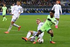 UEFA Champions League game FC Dynamo Kyiv vs Manchester City Stock Photography