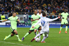 UEFA Champions League game FC Dynamo Kyiv vs Manchester City Stock Photo