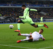 UEFA Champions League game FC Dynamo Kyiv vs Manchester City in Stock Image