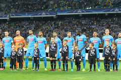 UEFA Champions League game FC Dynamo Kyiv vs Napoli Royalty Free Stock Photography