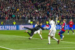 The UEFA Champions League game at Luzhniki stadium, CSKA - Real Madrid. stock photography