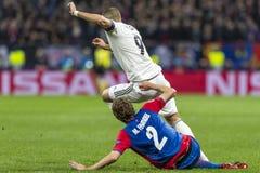 The UEFA Champions League game at Luzhniki stadium, CSKA - Real Madrid. stock images