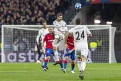The UEFA Champions League game at Luzhniki stadium, CSKA - Real Madrid. stock photo
