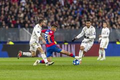 The UEFA Champions League game at Luzhniki stadium, CSKA - Real Madrid. royalty free stock photography