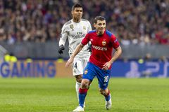The UEFA Champions League game at Luzhniki stadium, CSKA - Real Madrid. royalty free stock photos