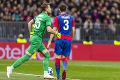 The UEFA Champions League game at Luzhniki stadium, CSKA - Real Madrid. stock photos