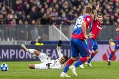 The UEFA Champions League game at Luzhniki stadium, CSKA - Real Madrid. royalty free stock image
