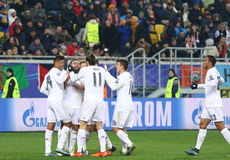UEFA Champions League game Shakhtar vs Real Madrid Royalty Free Stock Images