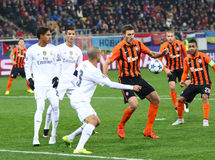 UEFA Champions League game Shakhtar vs Real Madrid Royalty Free Stock Photos
