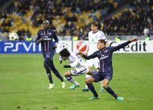 UEFA Champions League gemowy dynamo Kyiv vs PSG Zdjęcia Royalty Free