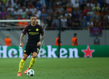UEFA CHAMPIONS LEAGUE QUALIFICATION – STEAUA BUCHAREST vs. MANCHESTER CITY. Manchester City's Aleksandar Kolarov in action during the UEFA Champions Stock Images