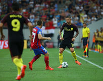 UEFA CHAMPIONS LEAGUE QUALIFICATION – STEAUA BUCHAREST vs. MANCHESTER CITY stock images