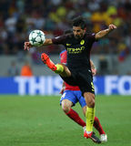 UEFA CHAMPIONS LEAGUE QUALIFICATION – STEAUA BUCHAREST vs. MANCHESTER CITY. Manchester City's Manuel Agudo Duran ''NOLITO'' in action during the UEFA Stock Photo