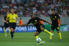 UEFA CHAMPIONS LEAGUE QUALIFICATION – STEAUA BUCHAREST vs. MANCHESTER CITY Stock Photos
