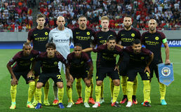 UEFA CHAMPIONS LEAGUE QUALIFICATION – STEAUA BUCHAREST vs. MANCHESTER CITY. Manchester City's team picture before the UEFA Champions Leagues First Royalty Free Stock Photo