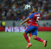 UEFA CHAMPIONS LEAGUE QUALIFICATION – STEAUA BUCHAREST vs. MANCHESTER CITY. Steaua Bucharest's Jugurtha Hamroun in action during the UEFA Champions Leagues Stock Photography
