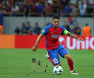 UEFA CHAMPIONS LEAGUE QUALIFICATION – STEAUA BUCHAREST vs. MANCHESTER CITY. Steaua Bucharest's Nicolae Stanciu in action during the UEFA Champions Leagues Royalty Free Stock Image