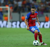 UEFA CHAMPIONS LEAGUE QUALIFICATION – STEAUA BUCHAREST vs. MANCHESTER CITY. Steaua Bucharest's Nicolae Stanciu in action during the UEFA Champions Leagues Royalty Free Stock Photos